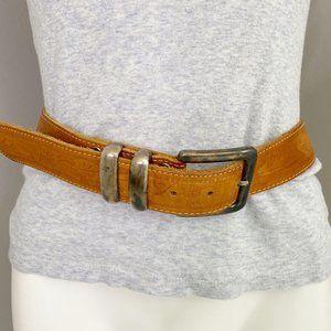 Banana Republic Brown Embossed Leather Belt